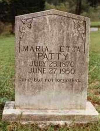 PATTY, MARIA ETTA - Newton County, Arkansas   MARIA ETTA PATTY - Arkansas Gravestone Photos