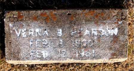 PEARSON, VERNA B. - Newton County, Arkansas | VERNA B. PEARSON - Arkansas Gravestone Photos
