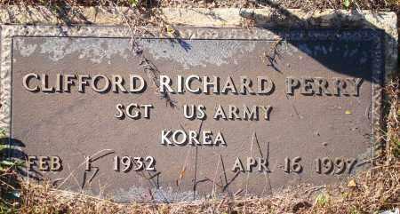 PERRY  (VETERAN KOR), CLIFFORD RICHARD - Newton County, Arkansas | CLIFFORD RICHARD PERRY  (VETERAN KOR) - Arkansas Gravestone Photos