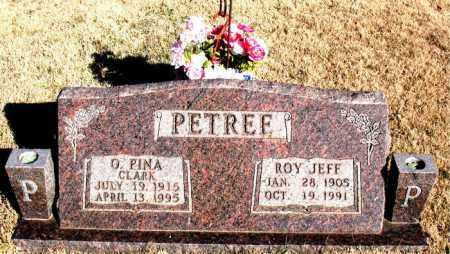 CLARK PETREE, G. PINA - Newton County, Arkansas | G. PINA CLARK PETREE - Arkansas Gravestone Photos
