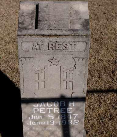 PETREE, JACOB H. - Newton County, Arkansas | JACOB H. PETREE - Arkansas Gravestone Photos