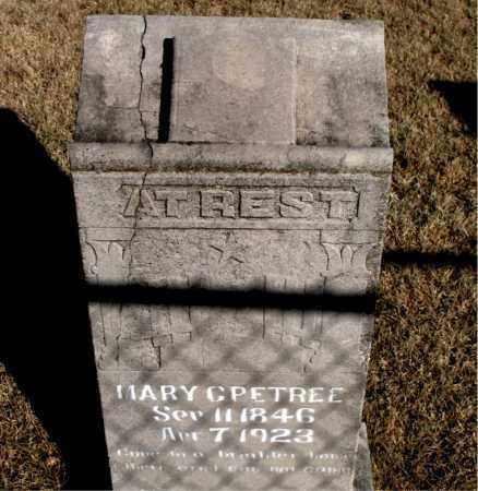 PETREE, MARY C. - Newton County, Arkansas   MARY C. PETREE - Arkansas Gravestone Photos