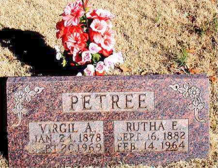 PETREE, RUTHA  E. - Newton County, Arkansas   RUTHA  E. PETREE - Arkansas Gravestone Photos