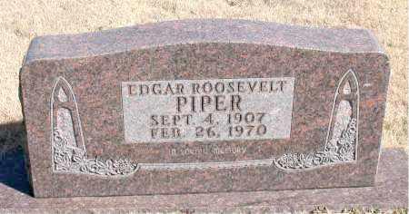 PIPER, EDGAR ROOSEVELT - Newton County, Arkansas   EDGAR ROOSEVELT PIPER - Arkansas Gravestone Photos