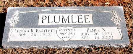 PLUMLEE, ELMER S. - Newton County, Arkansas   ELMER S. PLUMLEE - Arkansas Gravestone Photos