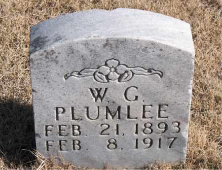 PLUMLEE, W. G. - Newton County, Arkansas | W. G. PLUMLEE - Arkansas Gravestone Photos
