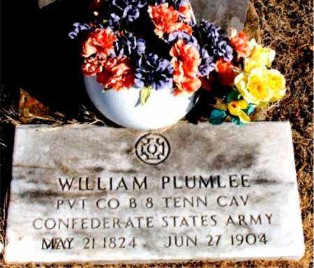 PLUMLEE  (VETERAN CSA), WILLIAM - Newton County, Arkansas | WILLIAM PLUMLEE  (VETERAN CSA) - Arkansas Gravestone Photos
