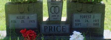 PRICE, FOREST J - Newton County, Arkansas | FOREST J PRICE - Arkansas Gravestone Photos