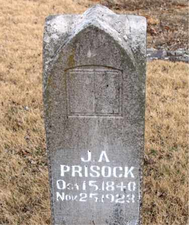 PRISOCK, J. A. - Newton County, Arkansas | J. A. PRISOCK - Arkansas Gravestone Photos