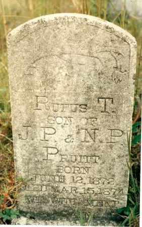 PRUITT, RUFUS - Newton County, Arkansas | RUFUS PRUITT - Arkansas Gravestone Photos