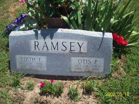 RAMSEY, EDITH E - Newton County, Arkansas | EDITH E RAMSEY - Arkansas Gravestone Photos