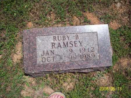 RAMSEY, RUBY B - Newton County, Arkansas | RUBY B RAMSEY - Arkansas Gravestone Photos
