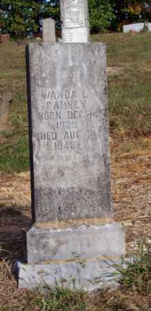 RAMSEY, WANDA L. - Newton County, Arkansas   WANDA L. RAMSEY - Arkansas Gravestone Photos