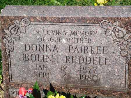 BOLIN REDDELL, DONNA PAIRLEE - Newton County, Arkansas | DONNA PAIRLEE BOLIN REDDELL - Arkansas Gravestone Photos