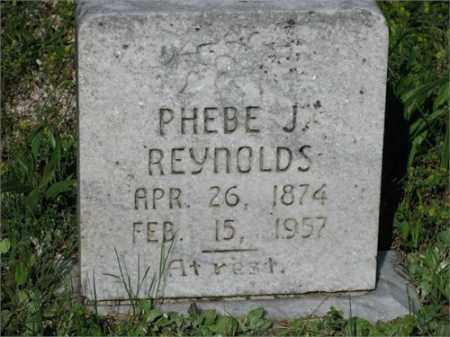 REYNOLDS, PHEBE J. - Newton County, Arkansas   PHEBE J. REYNOLDS - Arkansas Gravestone Photos
