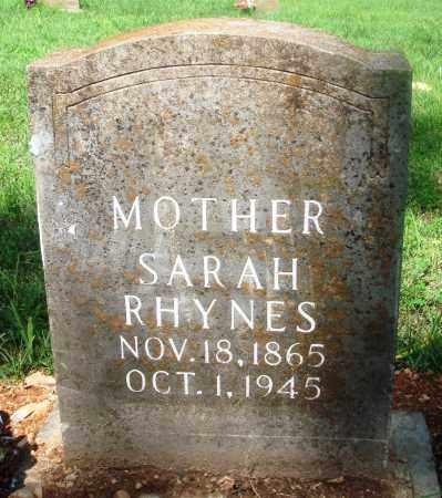 RHYNES, SARAH LUCINDA - Newton County, Arkansas   SARAH LUCINDA RHYNES - Arkansas Gravestone Photos