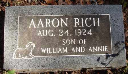 RICH, AARON - Newton County, Arkansas | AARON RICH - Arkansas Gravestone Photos