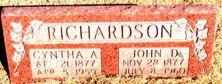 RICHARDSON, CYNTHA ARDELIA - Newton County, Arkansas   CYNTHA ARDELIA RICHARDSON - Arkansas Gravestone Photos