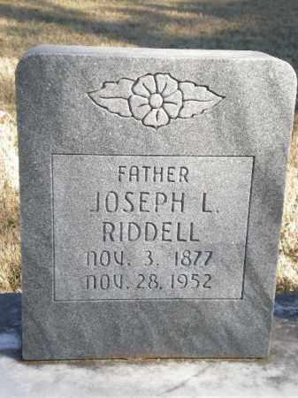 RIDDELL, JOSEPH L - Newton County, Arkansas   JOSEPH L RIDDELL - Arkansas Gravestone Photos