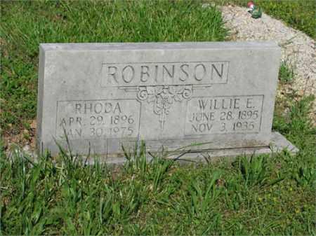 ROBINSON, WILLIE E. - Newton County, Arkansas | WILLIE E. ROBINSON - Arkansas Gravestone Photos