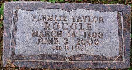 ROCOLE, PLEMLIE - Newton County, Arkansas | PLEMLIE ROCOLE - Arkansas Gravestone Photos
