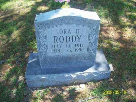 RODDY, LORA D - Newton County, Arkansas | LORA D RODDY - Arkansas Gravestone Photos