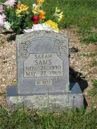 SAMS, SARAH - Newton County, Arkansas | SARAH SAMS - Arkansas Gravestone Photos