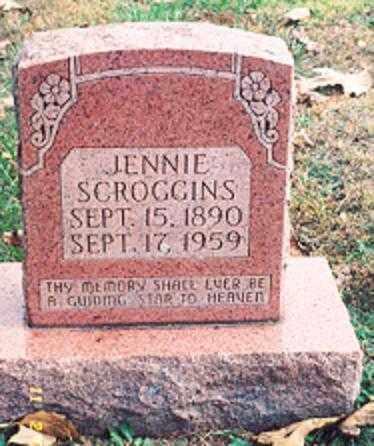 SCROGGINS, JENNIE - Newton County, Arkansas   JENNIE SCROGGINS - Arkansas Gravestone Photos