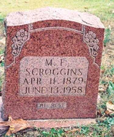 SCROGGINS, M. F. - Newton County, Arkansas | M. F. SCROGGINS - Arkansas Gravestone Photos