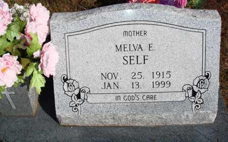 SELF, MELVA E. - Newton County, Arkansas | MELVA E. SELF - Arkansas Gravestone Photos