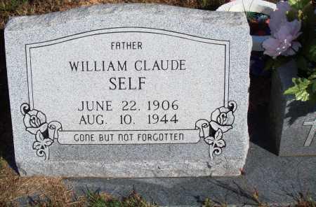 SELF, WILLIAM CLAUDE - Newton County, Arkansas | WILLIAM CLAUDE SELF - Arkansas Gravestone Photos
