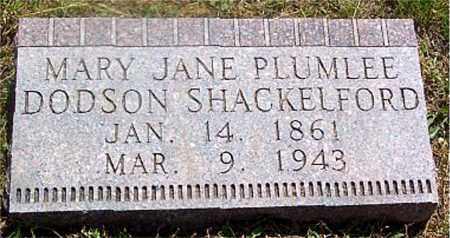 PLUMLEE SHACKELFORD, MARY JANE - Newton County, Arkansas | MARY JANE PLUMLEE SHACKELFORD - Arkansas Gravestone Photos