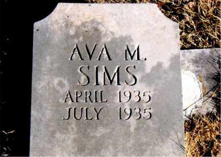 SIMS, AVA M - Newton County, Arkansas | AVA M SIMS - Arkansas Gravestone Photos