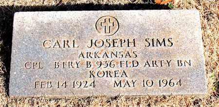 SIMS  (VETERAN KOR), CARL JOSEPH - Newton County, Arkansas | CARL JOSEPH SIMS  (VETERAN KOR) - Arkansas Gravestone Photos