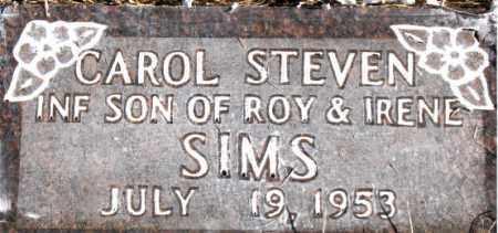 SIMS, CAROL STEVEN - Newton County, Arkansas | CAROL STEVEN SIMS - Arkansas Gravestone Photos