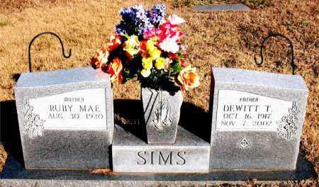 SIMS, DEWITT T. - Newton County, Arkansas | DEWITT T. SIMS - Arkansas Gravestone Photos