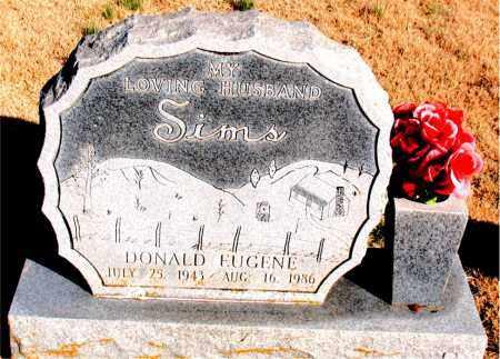 SIMS, DONALD EUGENE - Newton County, Arkansas   DONALD EUGENE SIMS - Arkansas Gravestone Photos