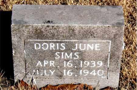 SIMS, DORIS JUNE - Newton County, Arkansas | DORIS JUNE SIMS - Arkansas Gravestone Photos
