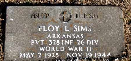 SIMS (VETERAN WWII), FLOY L - Newton County, Arkansas   FLOY L SIMS (VETERAN WWII) - Arkansas Gravestone Photos