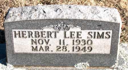 SIMS, HERBERT LEE - Newton County, Arkansas   HERBERT LEE SIMS - Arkansas Gravestone Photos