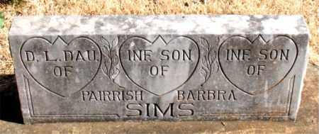 SIMS, INFANT SON - Newton County, Arkansas   INFANT SON SIMS - Arkansas Gravestone Photos