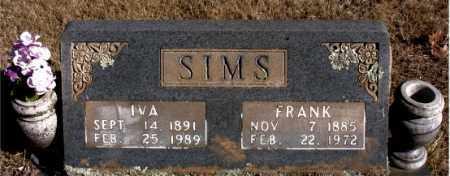 SIMS, IVA - Newton County, Arkansas | IVA SIMS - Arkansas Gravestone Photos