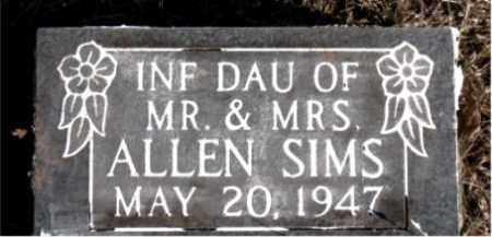 SIMS, INFANT DAUGHTER - Newton County, Arkansas   INFANT DAUGHTER SIMS - Arkansas Gravestone Photos