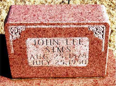 SIMS, JOHN LEE - Newton County, Arkansas   JOHN LEE SIMS - Arkansas Gravestone Photos