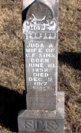 SIMS, JUDA A. - Newton County, Arkansas | JUDA A. SIMS - Arkansas Gravestone Photos