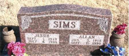 SIMS, JESSIE - Newton County, Arkansas | JESSIE SIMS - Arkansas Gravestone Photos