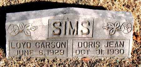 SIMS, DORIS JEAN - Newton County, Arkansas   DORIS JEAN SIMS - Arkansas Gravestone Photos