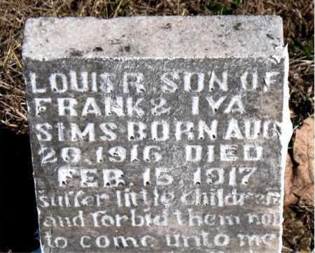 SIMS, LOUIS R.. - Newton County, Arkansas | LOUIS R.. SIMS - Arkansas Gravestone Photos