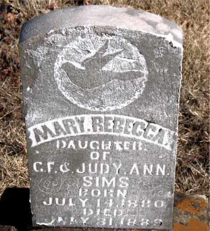 SIMS, MARY REBECCA - Newton County, Arkansas | MARY REBECCA SIMS - Arkansas Gravestone Photos