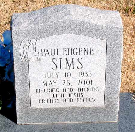 SIMS, PAUL EUGENE - Newton County, Arkansas   PAUL EUGENE SIMS - Arkansas Gravestone Photos